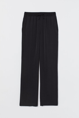 H&M Wide pull-on satin trousers