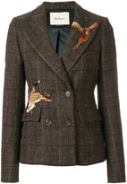 Mulberry bird patch double breasted jacket - women - Viscose/Wool - 40