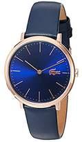 Lacoste Women's Quartz Gold and Leather Automatic Watch, Color:Blue (Model: 2000950)