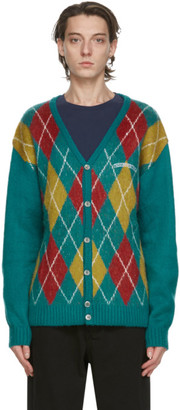 This Is Never That thisisneverthat Green Argyle Cardigan