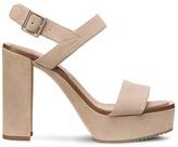 Calvin Klein Suede Chunky Heel Platform Sandal