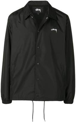 Stussy printed logo shirt jacket