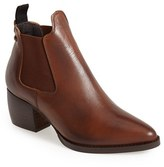 Topshop Women's 'Margot' Leather Ankle Bootie