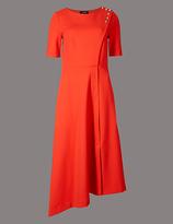 Autograph Asymmetrical Hem Tunic Midi Dress