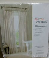 Martha Stewart Marthawindow Flutter Skinny Tab-top Curtain Panel - Sheer Linen - 50 X 95