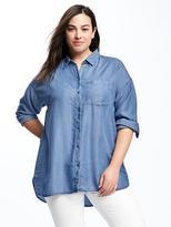 Old Navy Boyfriend Plus-Size Tencel® Shirt