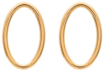 All Blues Ellipse polished gold vermeil earrings