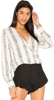 MinkPink Sundowner Wrap Blouse in Ivory