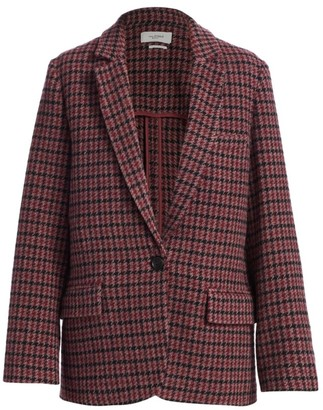 Etoile Isabel Marant Charly Plaid Wool Blazer Jacket