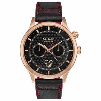 Citizen Men's Disney Stainless Steel Quartz Watch with Leather Strap Black 22 (Model: AP1053-23W)