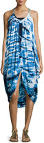 Young Fabulous and Broke Lynn Tie-Dye Sleeveless Dress, Navy/Blue