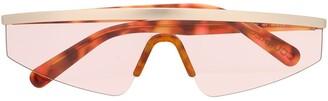 Courreges Eyewear visor sunglasses