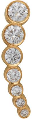 Sophie Bille Brahe Gold Diamond Petite Croissant De Lune Earring