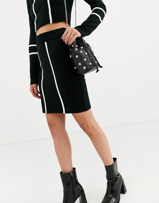 ASOS DESIGN co-ord knit mini skirt with tipping detail