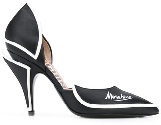 Moschino Contrast Piping Detailed Pumps