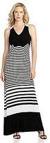 Chaus Sleeveless Stripe Loop Maxi Dress