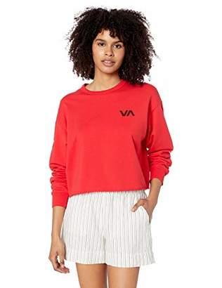 RVCA womens Ringside Crew Neck Sweatshirt