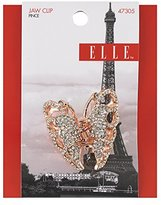 Elle Rose Gold and Crystal Rhinestone Butterfly Jaw Clip