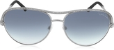Roberto Cavalli VEGA 1011 Metal Aviator Women's Sunglasses w/Crystals