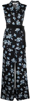 Diane von Furstenberg Floral Wrap Jumpsuit