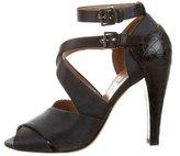 Alaia Crossover Satin Sandals