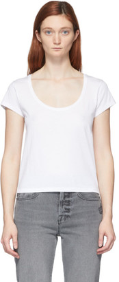 Frame White Le High Rise Scoop T-Shirt