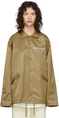 Essentials Tan Logo Jacket