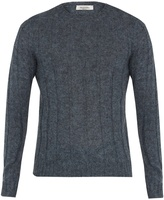 Valentino Crew-neck mohair-blend sweater