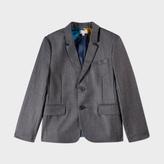 Paul Smith Boys' 7+ Years Grey Wool-Silk 'Marcello' Blazer