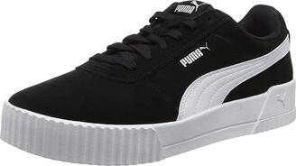 Puma Women's Carina Low-Top Sneakers Black Black Silver 6.5 UK