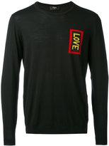Fendi Love embroidered sweater - men - Virgin Wool - 46