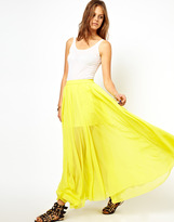 Asos Maxi Skirt with Embroidered Trim