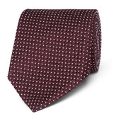 Tom Ford 8cm Polka-dot Silk-blend Jacquard Tie - Burgundy