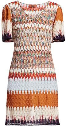 Missoni Chevron Lace Mini Dress