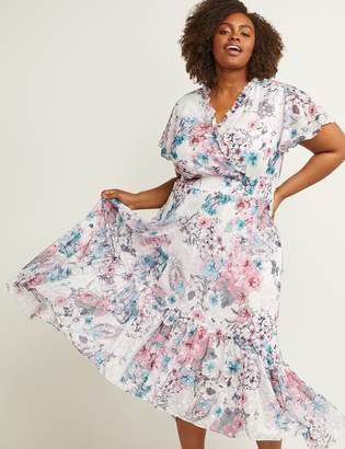 Lane Bryant V-Neck Floral Fit & Flare Maxi Dress