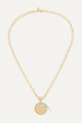 Sydney Evan 14-karat Yellow And White Gold Diamond Necklace