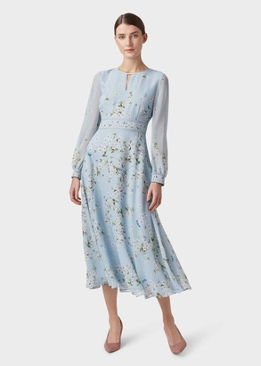 Hobbs Skye Silk Floral Midi Dress