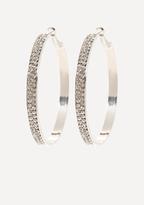 Bebe Crystal Front Hoop Earrings
