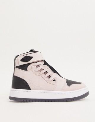 Jordan Nike Air 1 Nova trainers in pink and black