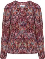 Zizzi Plus Size Multicoloured zigzag print blouse