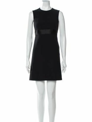 Alexander McQueen Crew Neck Mini Dress w/ Tags Black