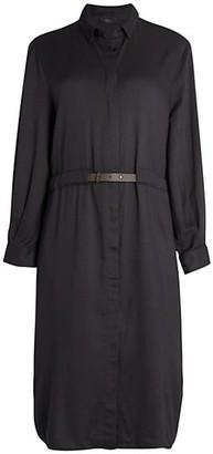Peserico Belted Twill Shirtdress