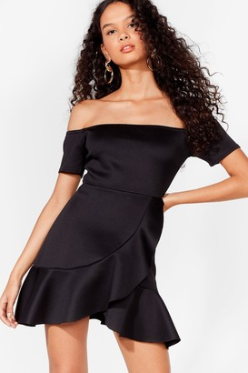 Nasty Gal Womens Show Me Off-The-Shoulder Dress - Black - 4, Black
