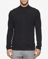 Calvin Klein Men's Plaited Zip-Up Sweater