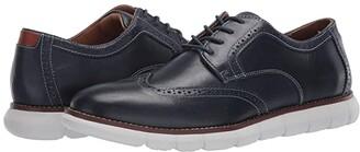 Johnston & Murphy Holden Wing Tip (Black Full Grain) Men's Shoes