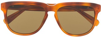 Brioni Tortoiseshell Effect Sunglasses