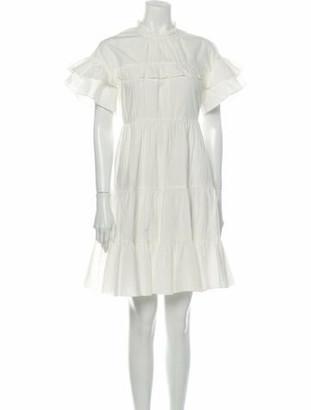 Ulla Johnson Mock Neck Knee-Length Dress