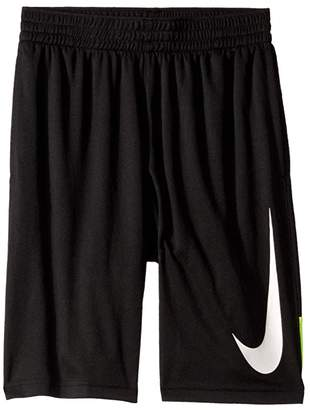 Nike Dry Basketball Short (Little Kids/Big Kids) (Black/Volt/Black/White) Boy's Shorts
