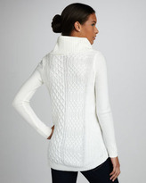 Design History Ribbed Cable-Knit Sweater