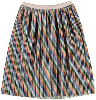 Molo Girl's Bailini Glitter Rainbow Stripe Pleated Skirt, Size 3T-14